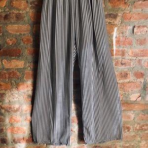 Wide Leg Striped trouser pants